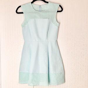 J. Crew Blue Silk Blend Dress